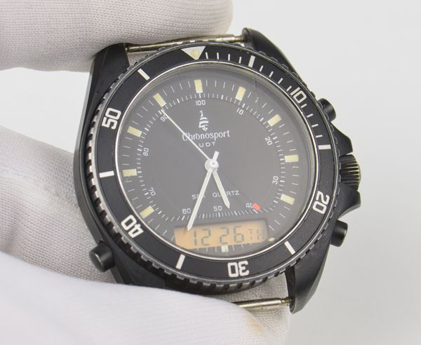 Chronosport udt type ii diver 39 s navy seal wrist watch breitling pluton movement ebay for Watches navy seals use