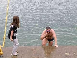 14. ZG OPEN - prva disciplina - plivanje - Žohar izranja iz sna