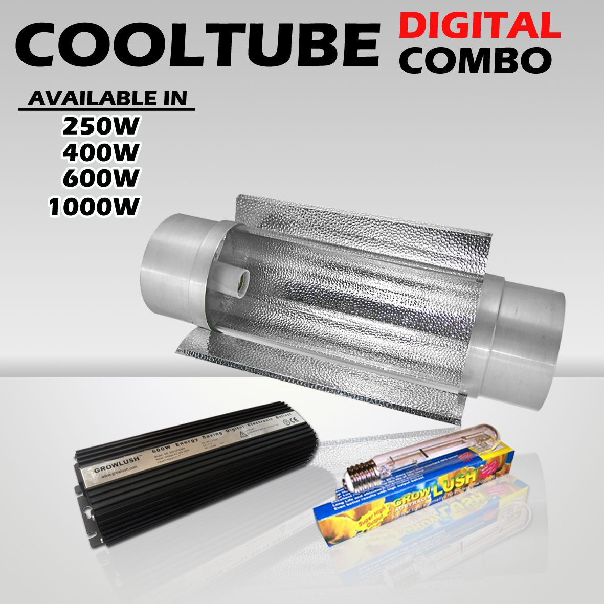 6in 150mm Cool Tube Reflector With 600w Digital Ballast