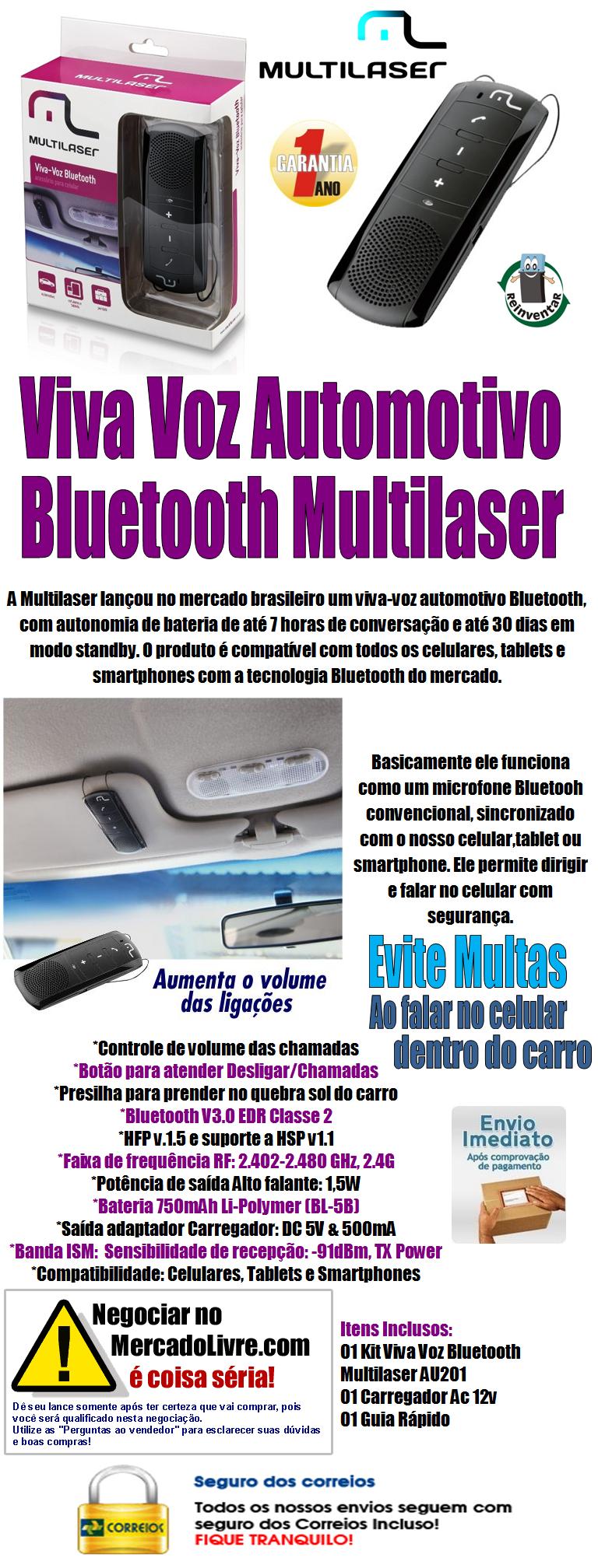 AU201 Multilaser/Reinventar D. Aut.